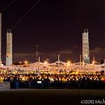 Candle light vigil begins
